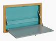 Woodman - Brenta Væghængt skrivebord - Turkis - Opklappeligt vægskrivebord