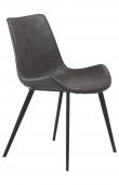 Danform - Hype Spisebordsstol - Grå PU - Spisebordsstol i vintage grå