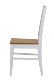 Filippa Spisebordsstol - Hvid, Egetræssæde