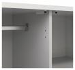 Naia Garderobeskab - Hvid højglans - 2 låger + 1 skuffe