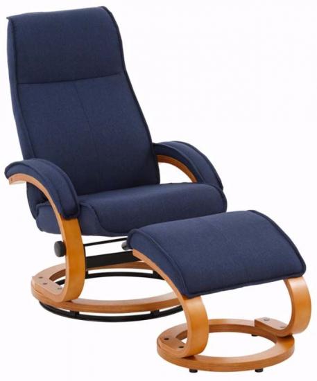 Paprika Hvilestol med skammel Blå Stof