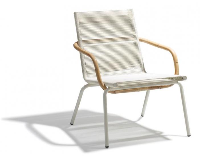 SIDD Loungestol - Hvid - Cane-line Hvid loungestol