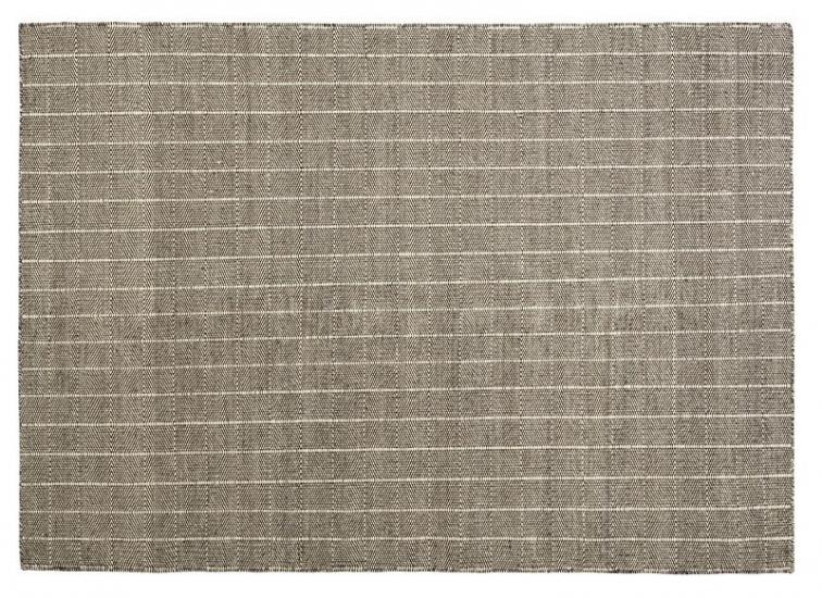 Fabula Living - Freja Hvid/Brun Kelim - 170x240 - Håndvævet Kelim 170x240 cm