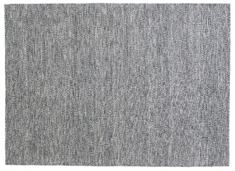 Fabula Gimle tæppe - Sort meleret - Håndvævet Kelim 140x200 cm