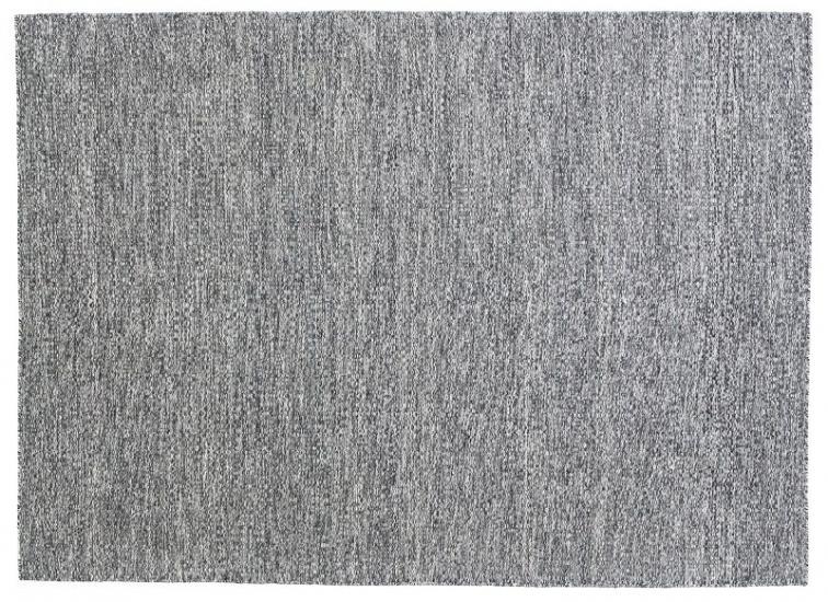 Fabula Gimle tæppe - Sort meleret - Håndvævet Kelim 170x240 cm