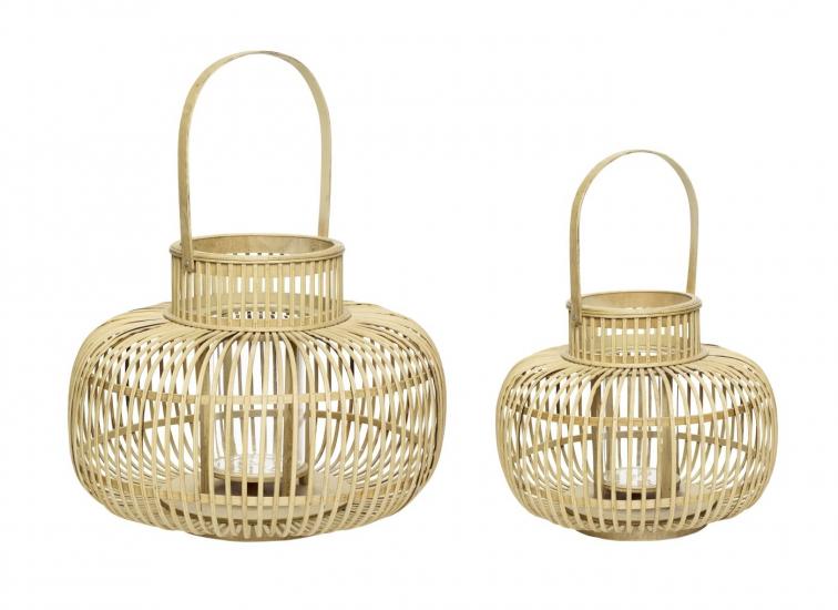 Hübsch Lanterne sæt Ø36/Ø46 - Bambus