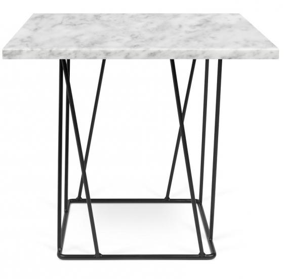 Temahome - Helix Sidebord - Hvid marmor m/sort stel