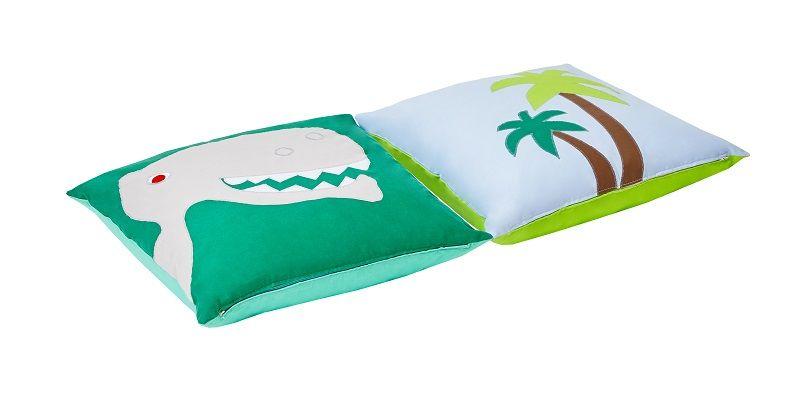 Hoppekids - Dinosaur Pudesæt 2 stk - Blå og grøn