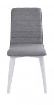 Trend Spisebordsstol - Lysegrå - Hvid spisebordsstol med lysegråt sæde