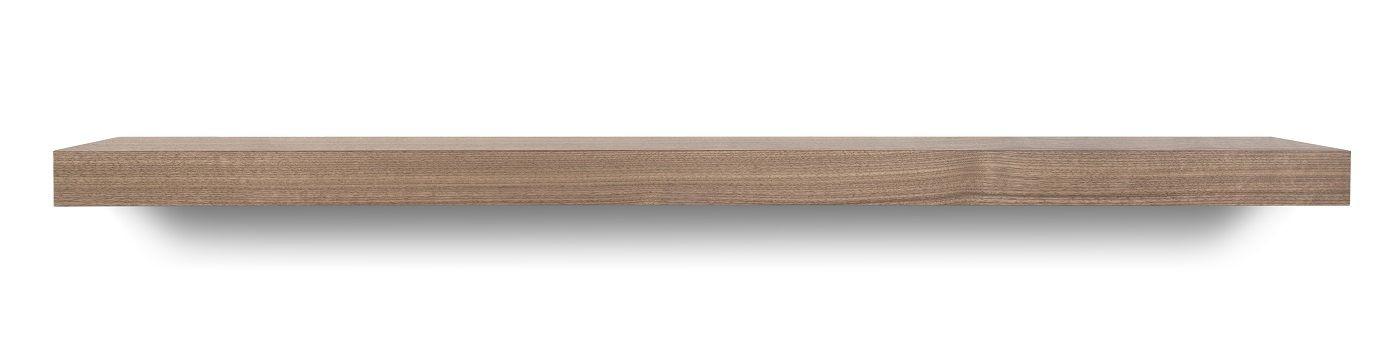 Temahome Balda Svævehylde, valnødfinér, 120x22