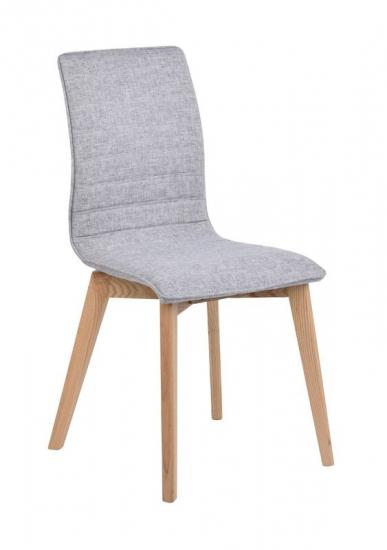 Trend Spisebordsstol - Lysegrå m. mat ege ben