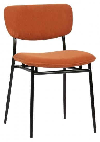 Woood DanÉ Spisebordsstol - Orange Fløjl