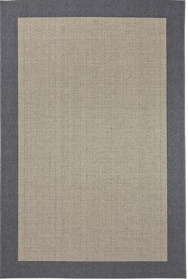 Casablanca fladvævet tæppe m. grå kant - 160x240