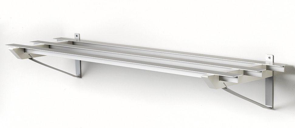 SR-2 Milano Skohylde - Hvid - Hvid skohylde i aluminium.