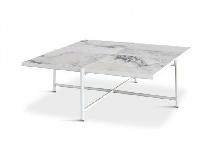 HANDVÄRK Sofabord 92x92 - Hvid Marmor