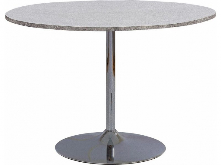 Terri Spisebord Ø110 cm  - Folie m/beton look