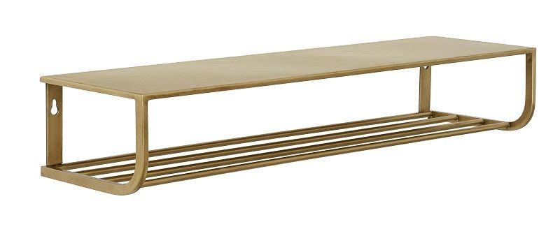 Nordal - Hattehylde L80 cm - Guldfarvet metal - Guldfarvet hattehylde