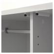 Naia Garderobeskab - Hvid højglans m/2 låger + 1 skuffe