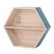 Bloomingville Mini Sættekasse med hylde - Bokshylde med print