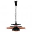 Brenda Justerbar Pendel - Sort m. Kobber - Loftlampe i eklusivt design med kobberbelagt inderside