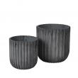 Fiber Flowepot cylinder s/2 - Charcoal