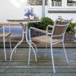 Hard & Ellen Cafébord Ø80, Hvid/teak