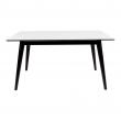 Copenhagen Spisebord hvid m sorte ben 150/230x95