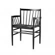 FDB Møbler J81 Spisebordsstol marmlæn Sort