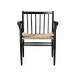 FDB Møbler - J81 Spisebordsstol m/armlæn - Sort/natur