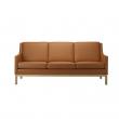 FDB Møbler - L601-3-pers. Sofa - Cognac