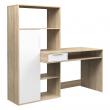 Function Plus Skrivebord - Lys træ m/opbevaring