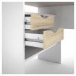 Function Plus Skrivebord - Lys træ/Hvid