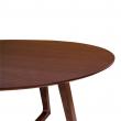 Hellerup Spisebord i valnød finer Ø137 cm