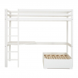 Hoppekids BASIC højseng - 90x200 cm - Hvit høyseng med lite skrivebord