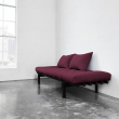 Pace Daybed med ryghynder, 75x200, Bordeaux, sort