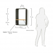 LaForma Cellini Metal Spejl med hylde