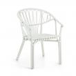 LaForma Corynn Spisebordsstol m. armlæn - Hvid