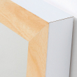 LaForma Drop Spejl - Pure White massiv træ