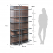 LaForma Mahon Reol 183x106 - Mat graphite