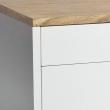 Mavis - Falsterbo Tv-bord - Hvid m/ege top