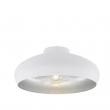 Mogano - Loftlampe - Hvid - Hvit loftlampe med sølvfarvet inderside