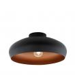 Mogano Loftlampe - Sort - Svart loftlampe med kobberbelagt inderside