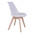 Molde Spisebordsstol - Hvid, træsben