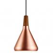 DFTP Float 18 Pendel - Kobber - Kobber loftslampe med træ detalje