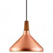 Nordlux DFTP Float 27 Pendel - Kobber - Kobber loftslampe med træ detalje