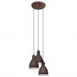 Priddy Loftslampe m. 3 Pendler - Kobber - 3 pendler med rustik kobberfinish