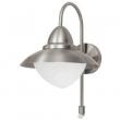 SIDNEY Udendørslampe - Metal - Udendørs væglampe i rustfrit stål med sensor
