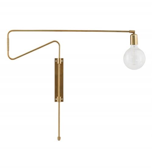 Swing Væglampe - Messing - Væglampe i messing