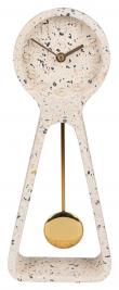 Zuiver Clock Pendulum Ur - Hvid Terrazzo