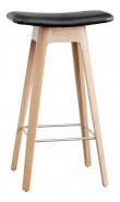 Andersen HC1 Counterstol m.læder sæde, hvidpig. Eg